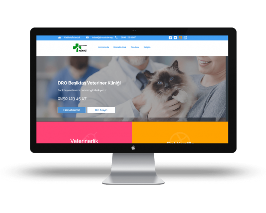 Veteriner wwebsite örneği 1